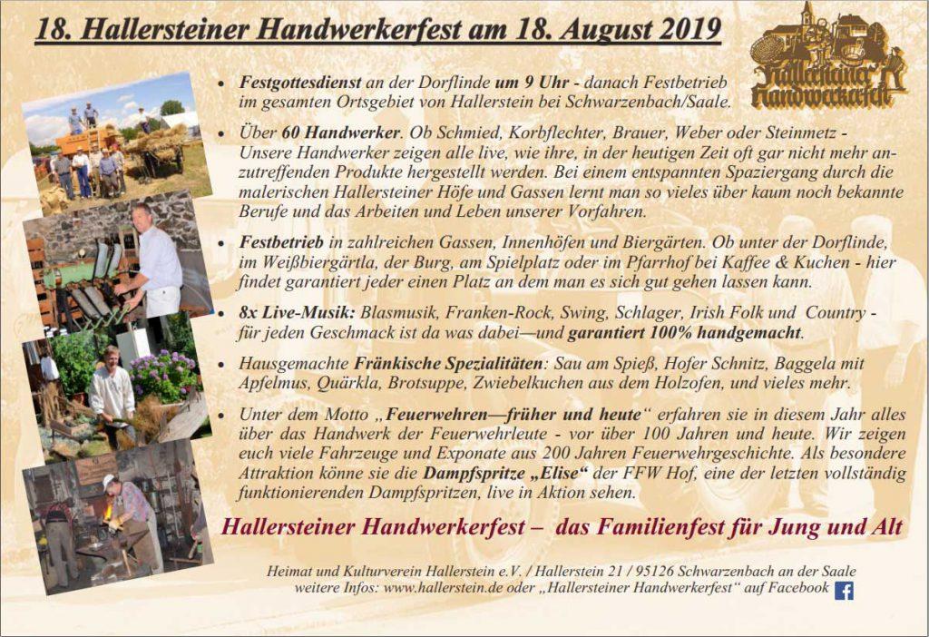 Handwerkerfest Flyer Rückseite