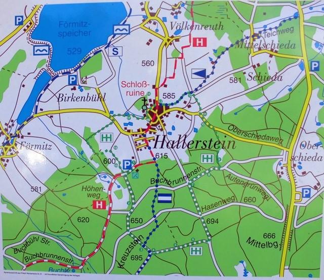 Karte Hallerstein